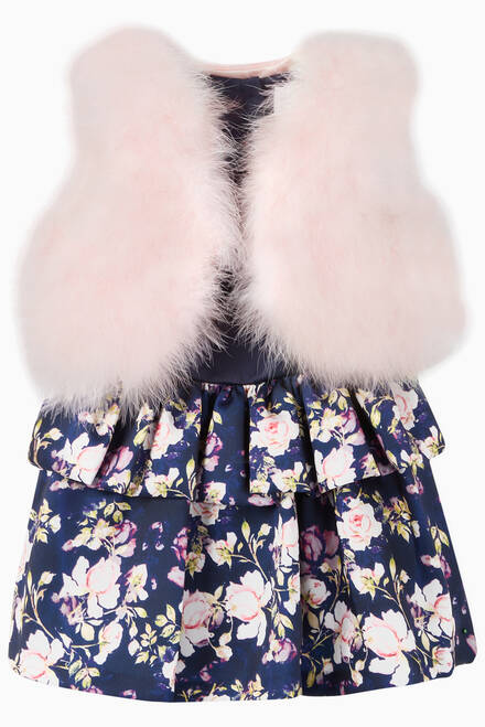 hover state of Faux Fur Waistcoat