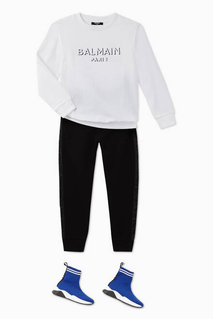 hover state of Logo Tape Cotton Sweatpants
