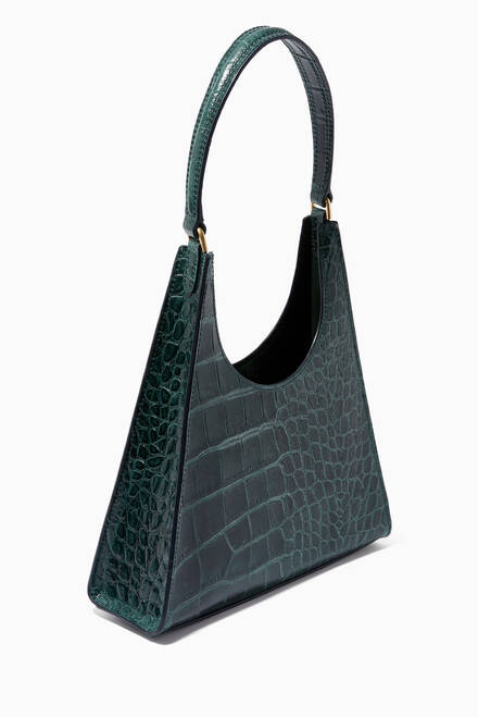 hover state of Rey Bag in Croc Embossed Leather