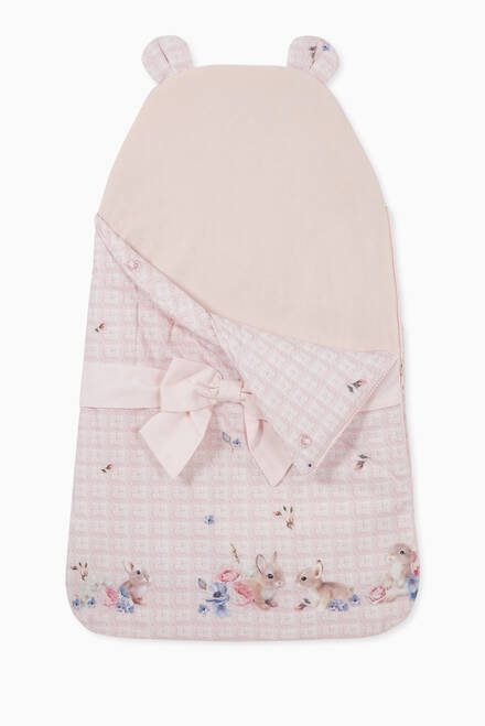 hover state of Bunny Knit Print Sleeping Bag