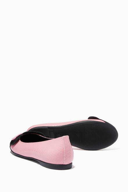 hover state of Logo Ballerinas in Embossed-Leather