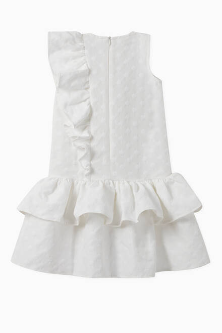hover state of Frill Cotton Dress