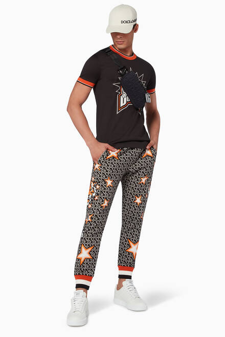hover state of Star Tiger Print Jogging Pants
