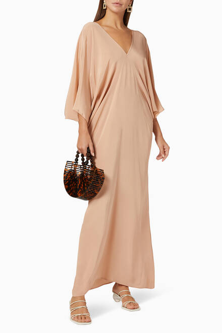 hover state of Chara Silk Maxi Dress