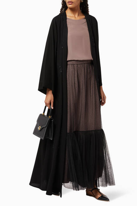 hover state of Top & Skirt Abaya Set