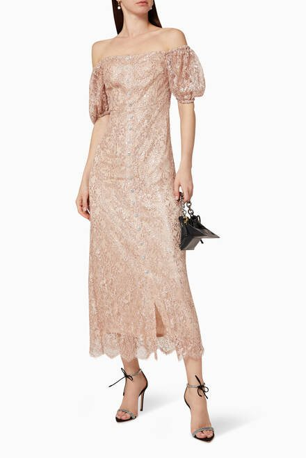 hover state of Embroidered Lace Dress
