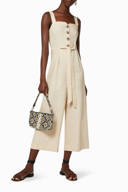 hover state of Hadley Linen Jumpsuit