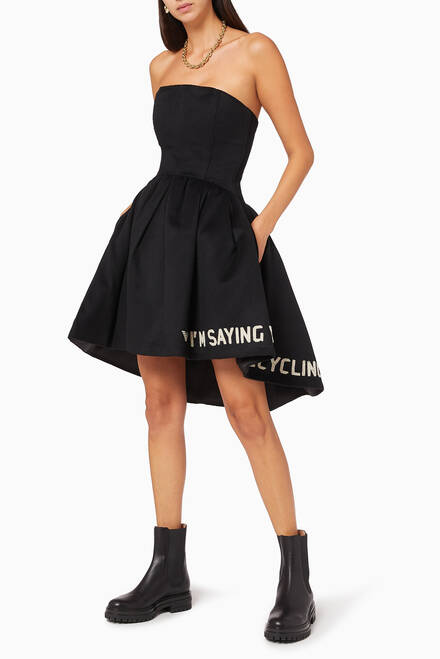 hover state of Sustainable Quote Wool Dress