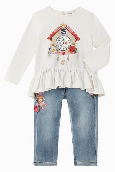 hover state of Cuckoo Clock Ruffled Jersey Top