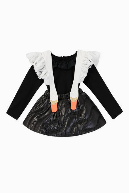 hover state of Bird Girl Frill Nylon Skirt