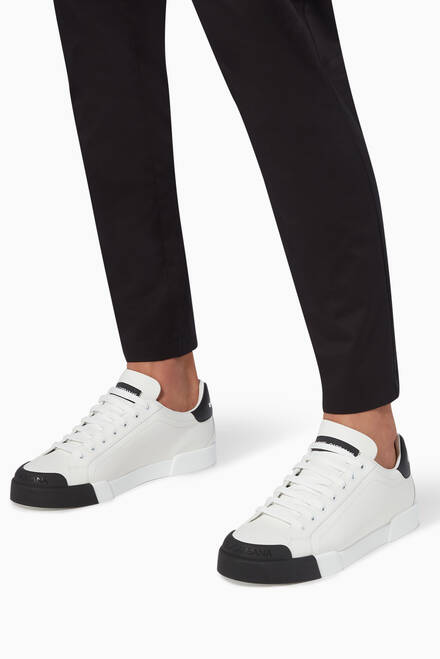 hover state of Portofino Contrast Sneakers in Leather