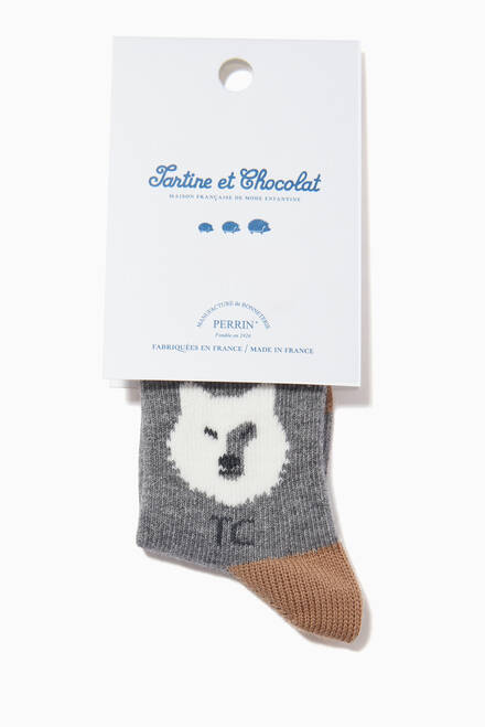 hover state of Wolf Stretch Knit Socks