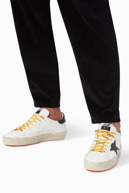 hover state of Hi Star Sneakers with Leather Star in Leather