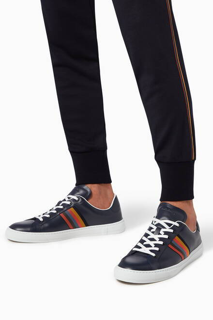 hover state of Hansen Artist Stripe Sneakers in Leather