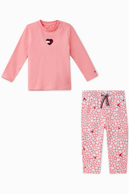hover state of Rosey Heart T-Shirt and Leggings Set