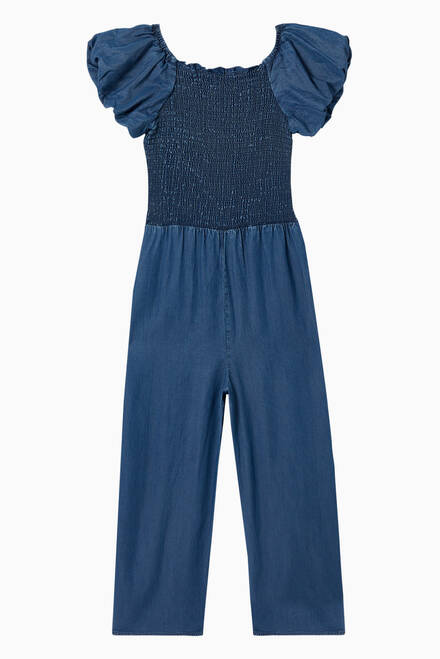 hover state of Nastassia Bubble Smocked Jumpsuit