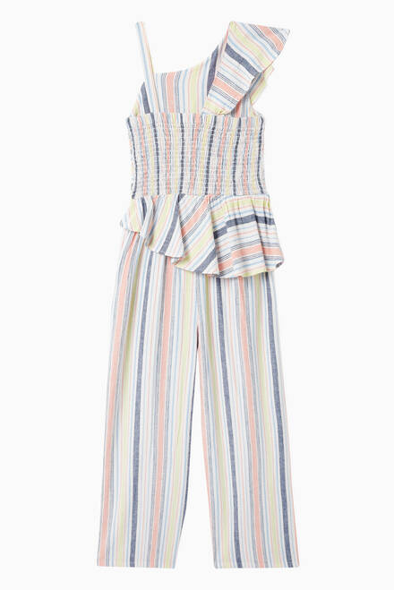hover state of Mae Stripe Jumpsuit