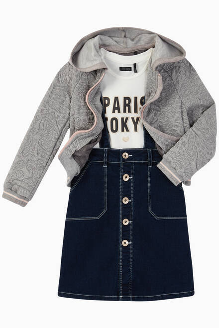hover state of 2-in-1 T-Shirt & Denim Skirt