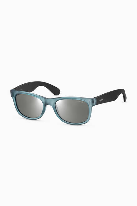 hover state of P0115 Square Sunglasses in Plastic