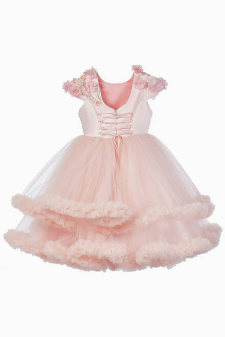 hover state of Pearl Rose Tulle Dress