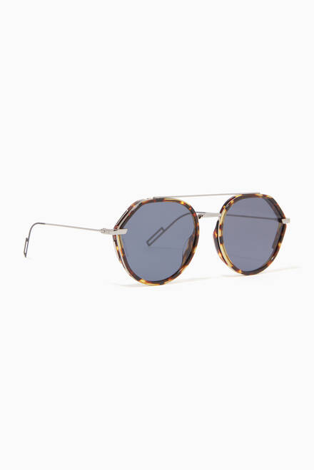 hover state of Round Aviator Sunglasses in Acetate & Metal