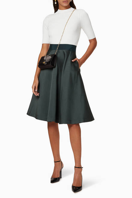 hover state of Betsiyy Knitted Satin Midi Dress