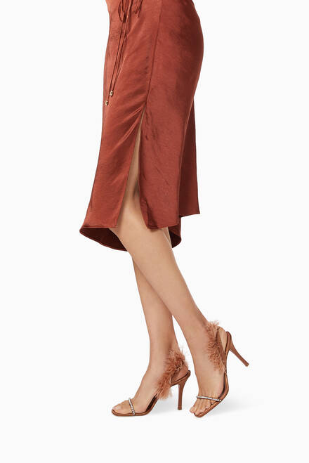 hover state of Adwoa 95 Slingback Sandals in Satin