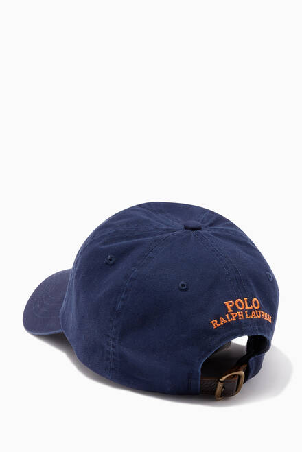 hover state of Polo Bear Baseball Cap in Cotton Chino