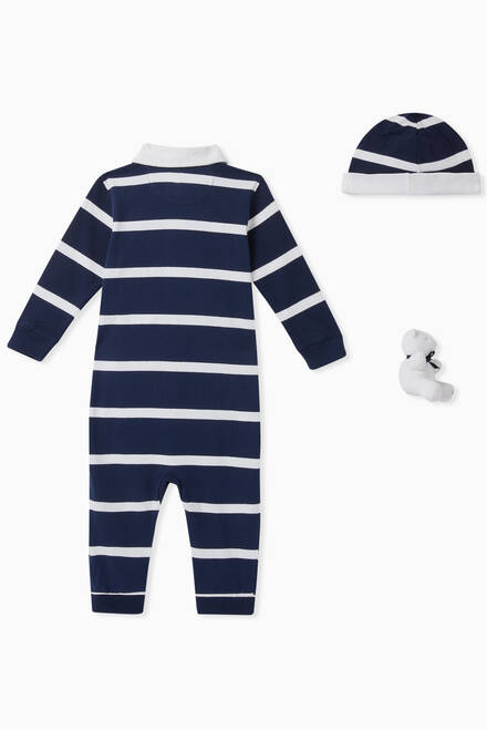 hover state of Striped Cotton Coverall Gift Set