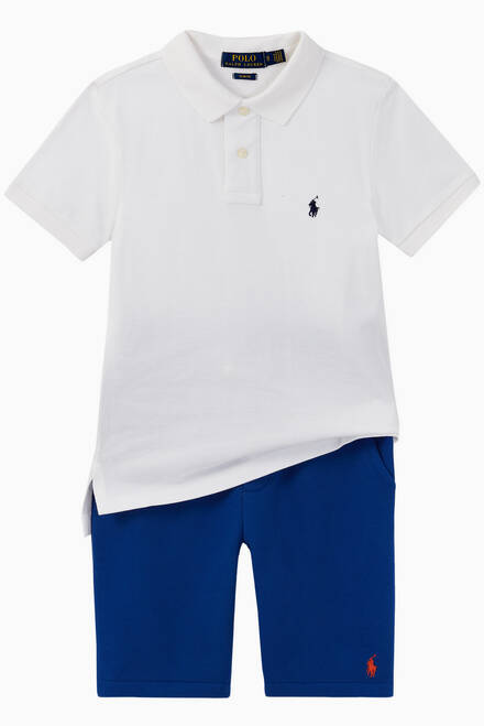 hover state of Custom Fit Cotton Mesh Polo