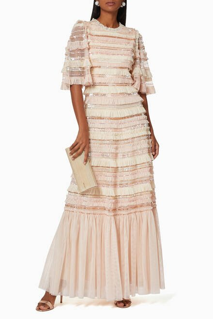 hover state of Nancy Frill Tulle Gown