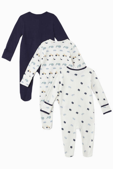 hover state of Farm Cotton Sleepsuit, Set of 3