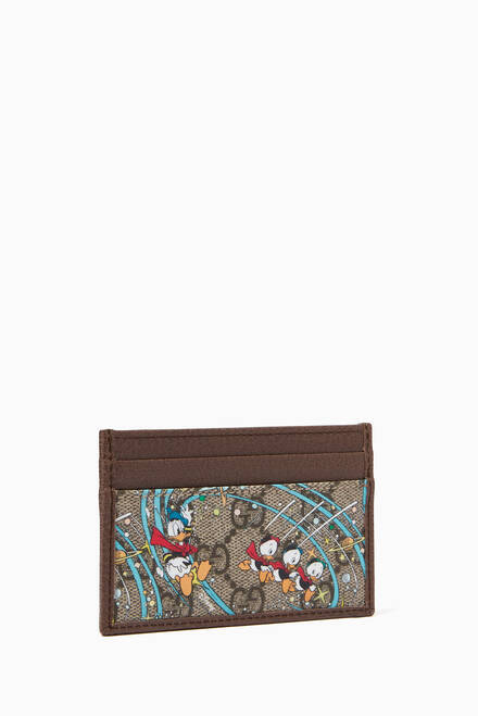 hover state of x Disney Donald Duck Cardholder in GG Supreme Canvas