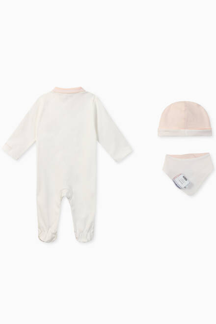 hover state of EA Manga Bear Romper, Hat & Bib Set