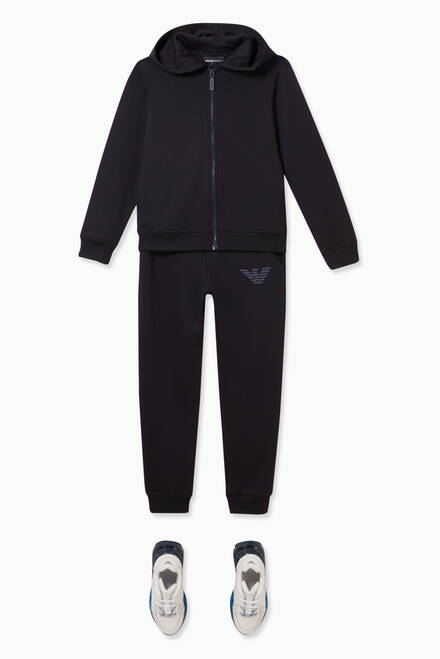 hover state of EA Eagle Embroidered Jersey Tracksuit