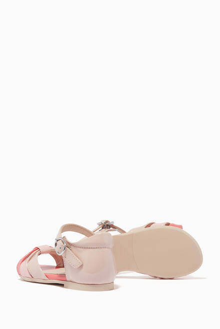 hover state of Multi Strap Sandals in Patent Leather