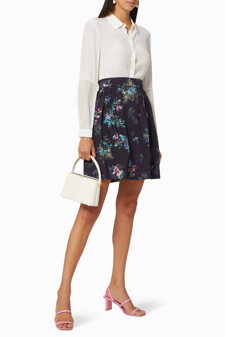 hover state of Paella Floral Cotton Skirt