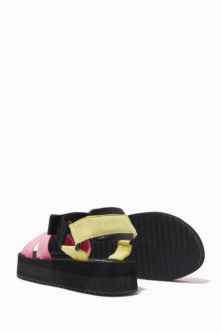 hover state of Logo Strap Sandals  in Grosgrain