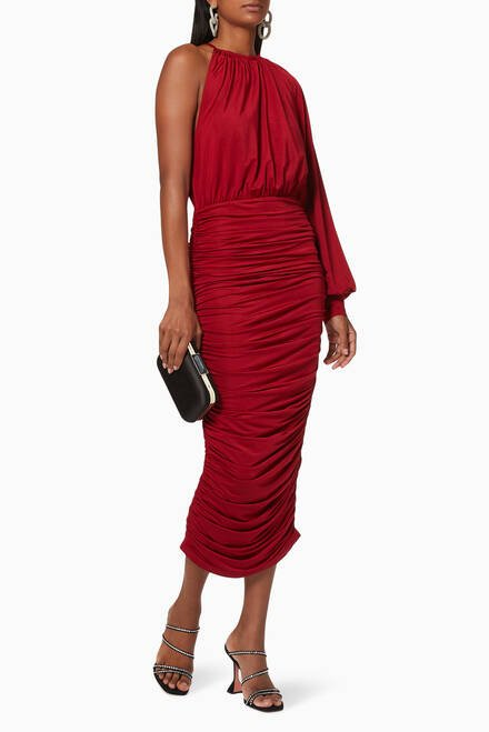 hover state of Monet Ruched Dress