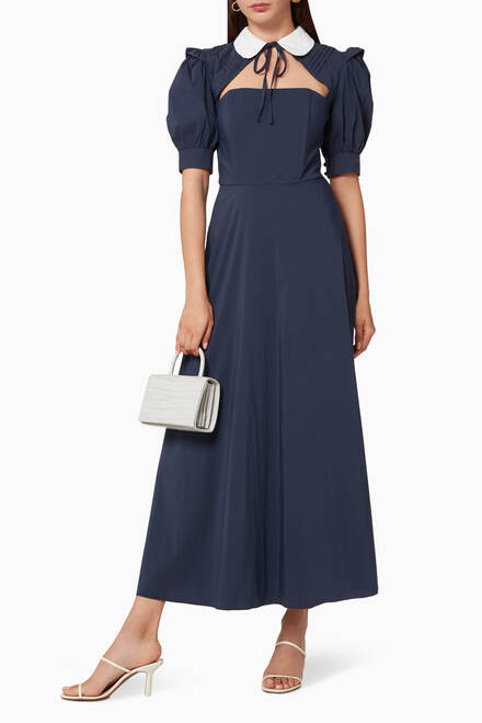hover state of Collared Cotton Dress
