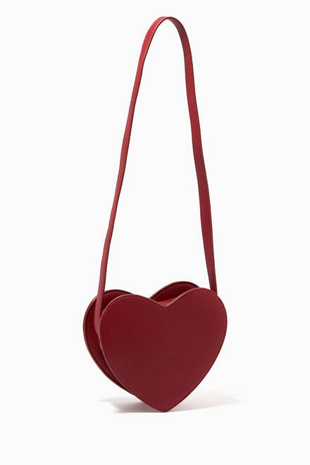 hover state of Heart Bag in Faux Leather