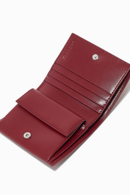 hover state of Chantaco Small Snap Wallet in Piqué Leather