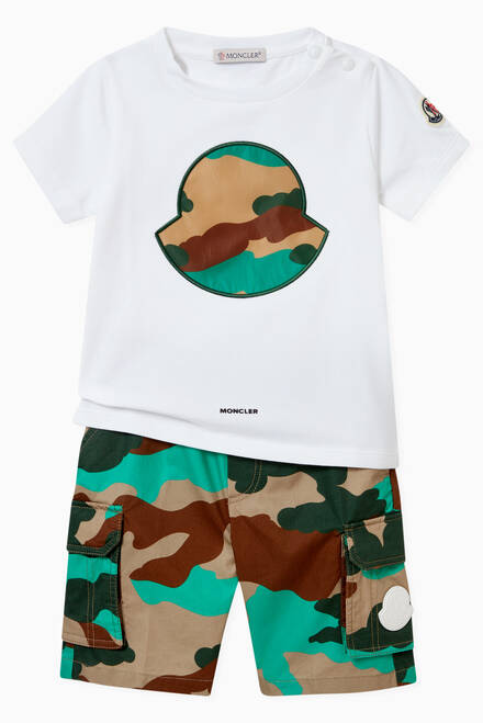 hover state of Camo Print Shorts in Cotton