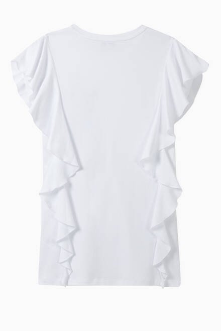 hover state of Ruffled Logo Cotton Dress