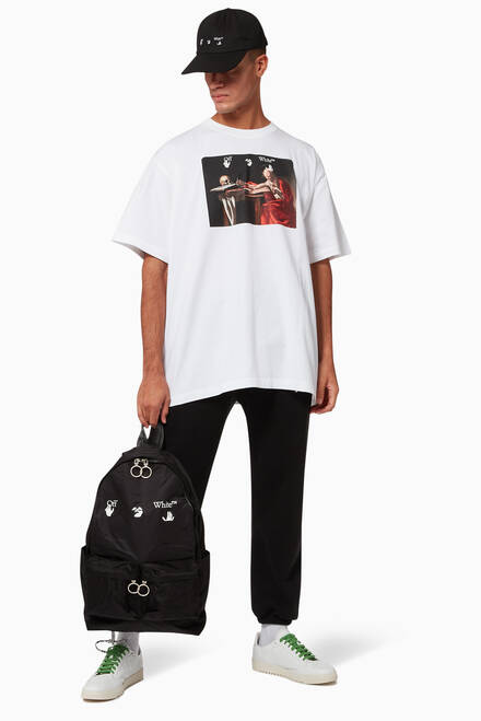 hover state of Caravaggio Painting Oversized Cotton T-Shirt
