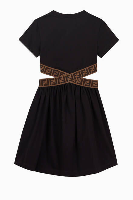 hover state of Monogram Waist Dress in Cotton