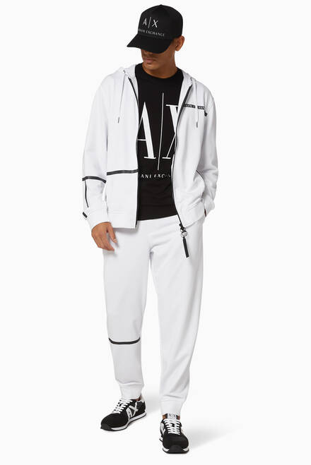 hover state of Logo Tape French Terry Jogging Pants