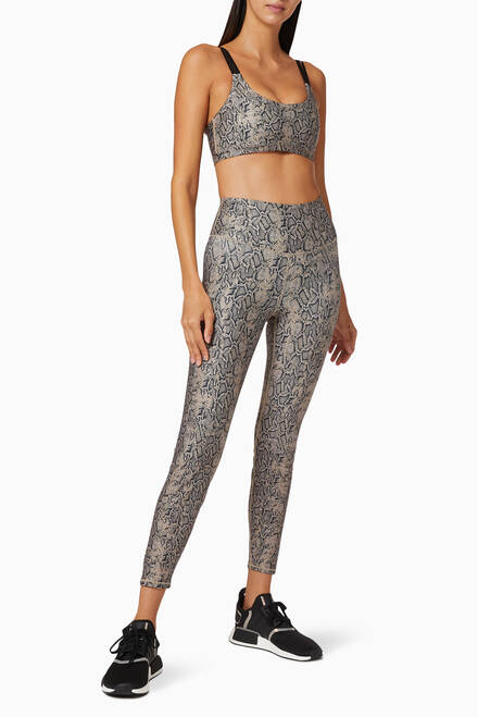 hover state of Leopard Eco Sheen Core Power Leggings