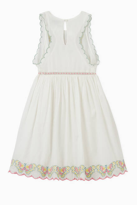 hover state of Butterfly Embroidery Organic Cotton Dress