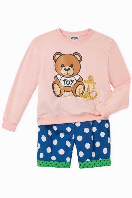 hover state of Anchor Teddy Bear Jersey Sweatshirt